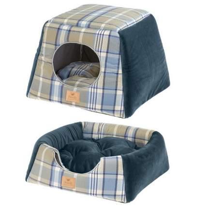 Домик для собак Ferplast Edinburgh, синий, 44x44x33см