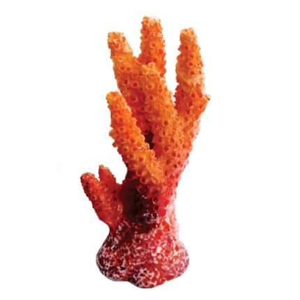 Искусственный коралл Laguna, Синулярия мини, оранжевый, 6.7х3.6х3 см