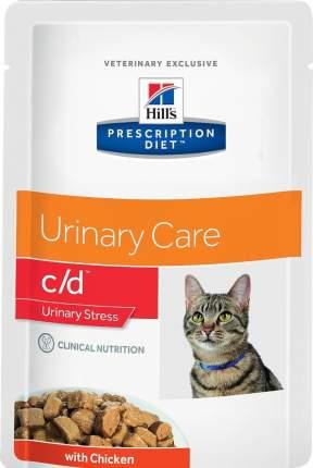 Влажный корм для кошек Hill's Prescription Diet c/d Multicare Urinary Stress, курица, 85г