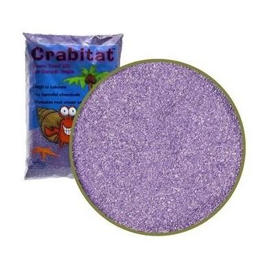 Натуральный песок для аквариумов CaribSea Crabitat для раков-отшельников, пурпурный, 0,9 л