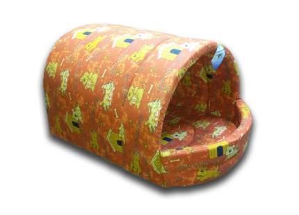 Домик для кошек и собак Бобровый Дворик Эстрада глубокая №4, оранжевый, 81x57x45см