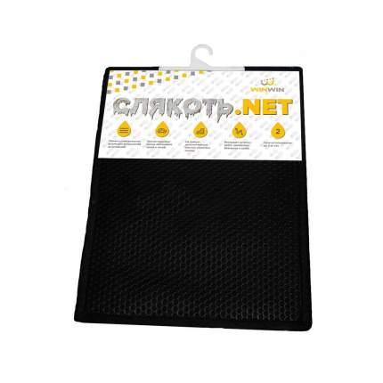 Коврики салона влаговпитывающий черный многоразовый 40х50см 1 шт. WinWin WW 4010