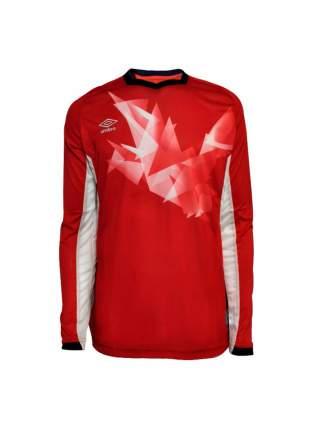 Футболка футбольная Umbro Origami Jersey LS, красная/белая, S