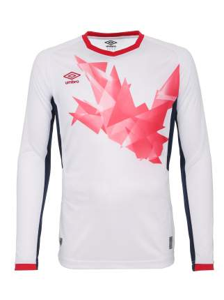 Футболка Umbro Origami Jersey LS, белый/красный, M INT