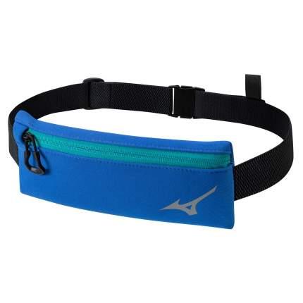 Пояс Mizuno,Running waist bag, размер NS, синий/черный
