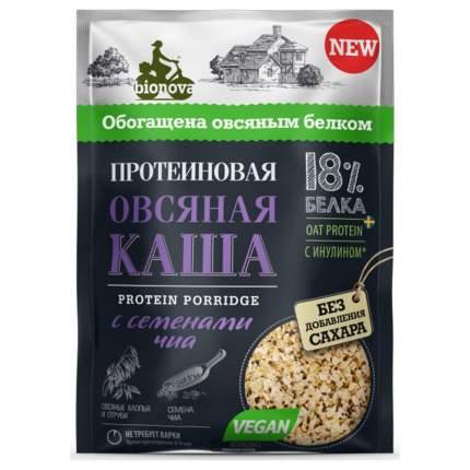Протеиновая овсяная каша Bionova с семенами Чиа 40г