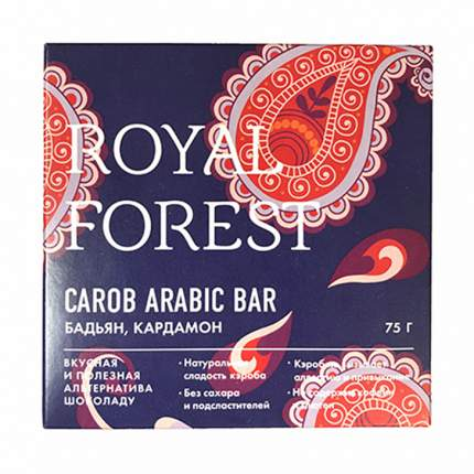 Шоколад Royal Forest Арабский с бадьяном и кардамоном 75г