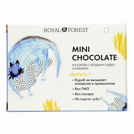 Шоколад Royal Forest из кэроба с ягодами годжи и изюмом 30г