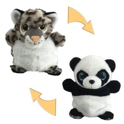 Мягкая игрушка Junfa toys Перевертыши Панда/Леопард, 16 см
