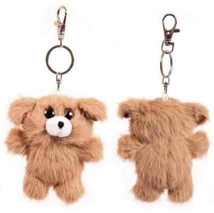 Мягкая игрушка Junfa toys Флэтси Мини Щенок с подвесом, 9,5 см