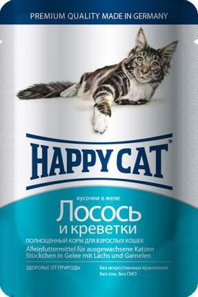 Влажный корм для кошек Happy Cat, лосось, креветки, 100г