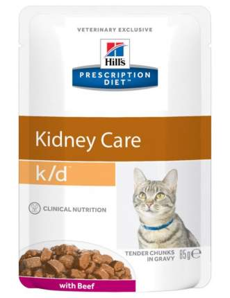 Влажный корм для кошек Hill's Prescription Diet k/d Kidney Care, говядина, 85г