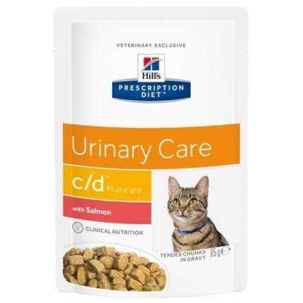Влажный корм для кошек Hill's Prescription Diet c/d Multicare Feline, лосось, 85г