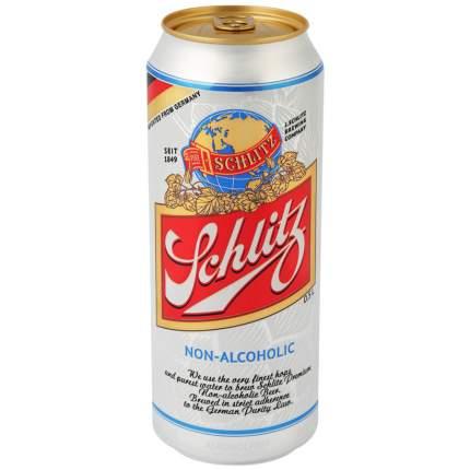 Пиво Schlitz Alkoholfrei безалкогольное 0.5% 0.5л