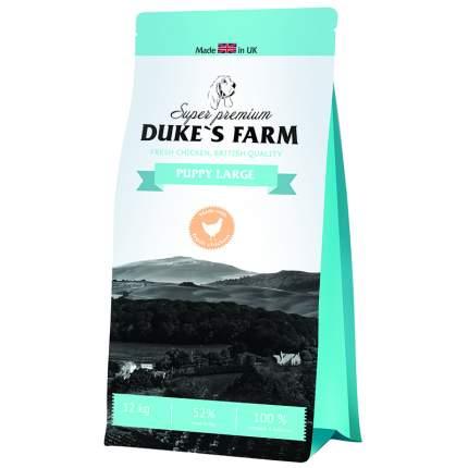 Сухой корм для щенков DUKE'S FARM Puppy Large, для крупных пород, курица, 12кг
