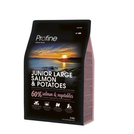 Сухой корм для щенков Profine Junior Large, для крупных пород, лосось и картофель, 3кг