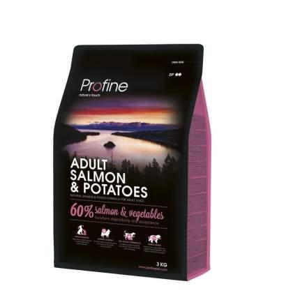 Сухой корм для собак Profine Adult, все породы, лосось и картофель, 3кг