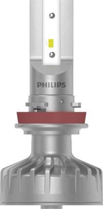 Лампа светодиодная 12V H8/H11/H16 1W 6200K PHILIPS LED FOG WHITE 2 шт. картон 11366 ULWX2