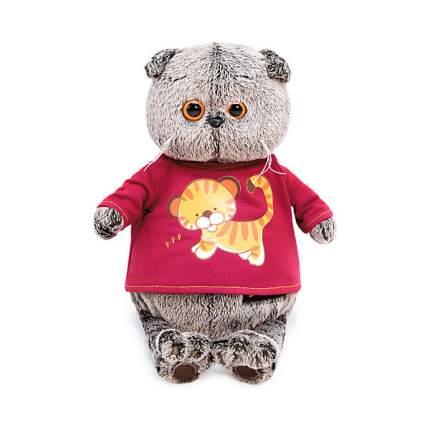 Мягкая игрушка Budi Basa Басик в футболке с принтом Тигренок, 19 см