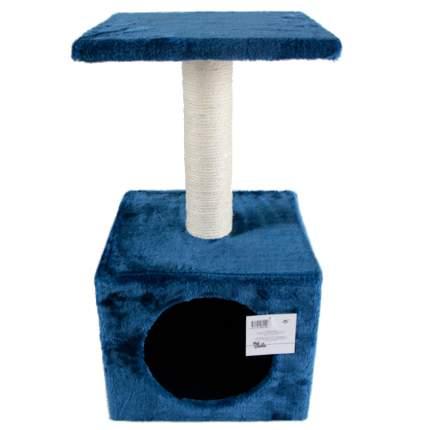 Домик для кошек Pet Choice, с когтеточкой, темно-синий, 30х30х57 см