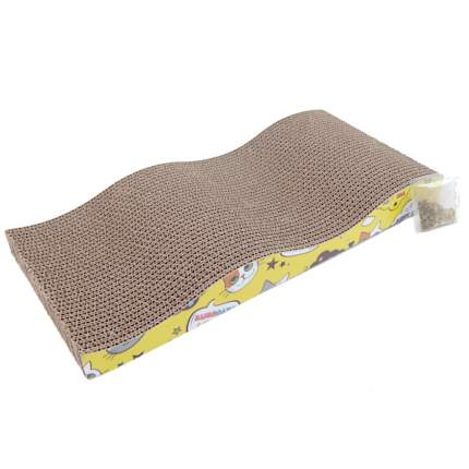 Когтеточка-коврик для кошек Pet Choice, гофрокартон, 45х21х5,5 см