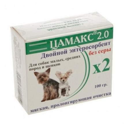 Пищевая добавка для щенков и мелких, средних собак Цамакс Двойной энтеросорбент, 100 г