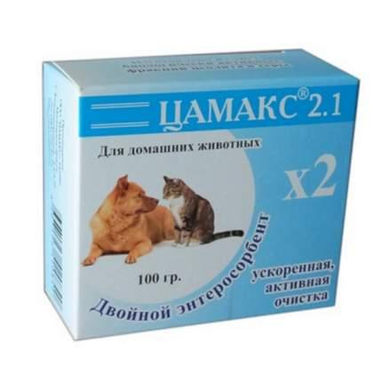 Пищевая добавка для собак, для кошек Цамакс Двойной энтеросорбент, 100 г