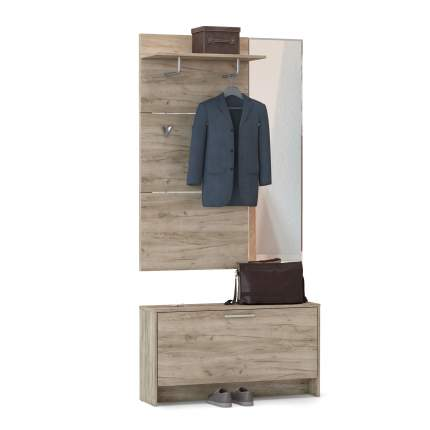 Шкаф комбинированный Mobi Лайт 08.42 дуб серый крафт, 100х26х186 см
