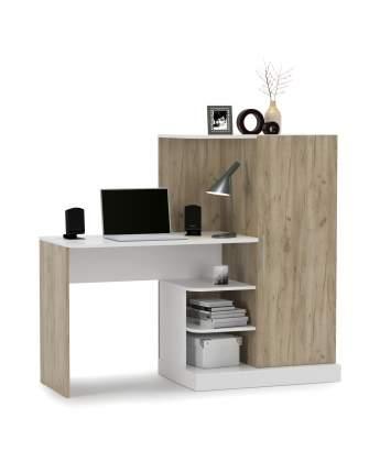 Компьютерный стол Mobi Лайт 1356352, дуб крафт серый/белый премиум