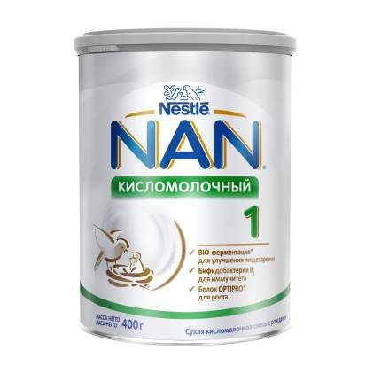 Молочная смесь NAN Кисломолочный 1 от 0 до 6 мес. 400 г