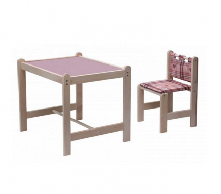 Набор игровой мебели Гном Малыш-2 стол+стул, столешница сиреневая + Симпатия