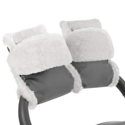 Муфта-рукавички для коляски Esspero Christer Grey Натуральная шерсть