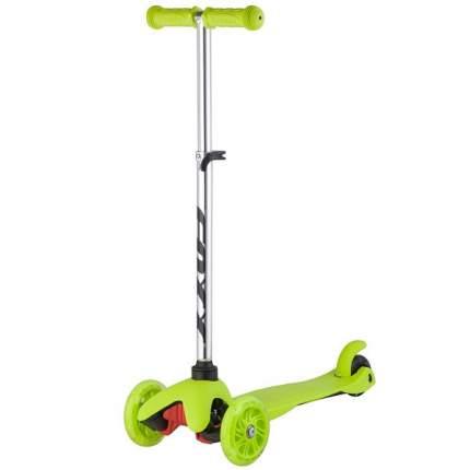 Самокат-кикборд FOXX Disco-kids зеленый, светящиеся колеса
