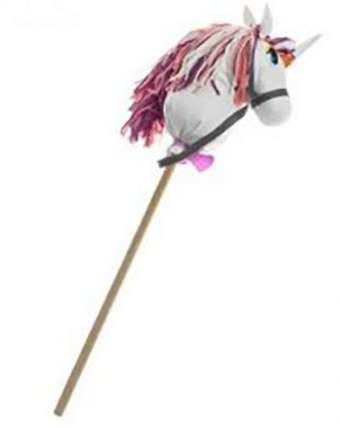 Лошадка-скакалка на палке Тутси Единорог Полина