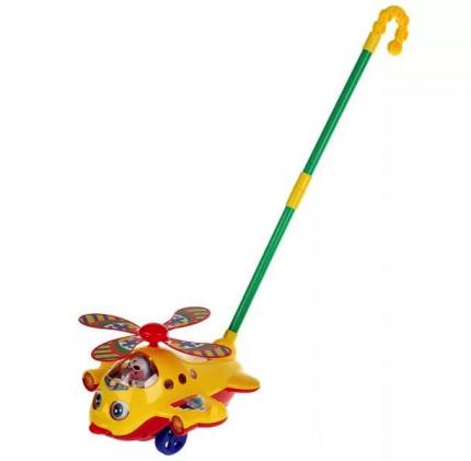 Каталка Play Smart Вертолет с тростью, моргает, звенит, в ассортименте
