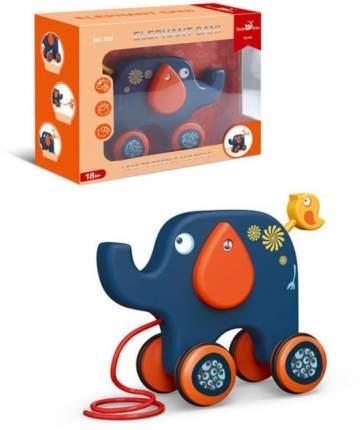 Каталка на веревочке Наша игрушка Слон, 22х18 см