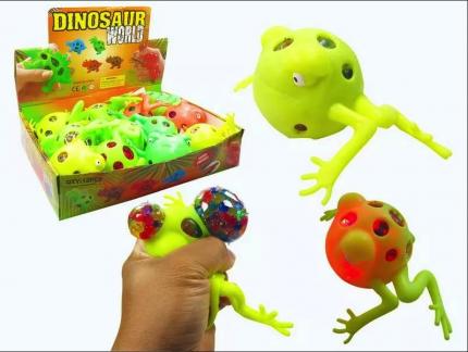 Игрушка-антистресс Junfa Toys Мялка Dinosaur World Лягушка, в ассортименте