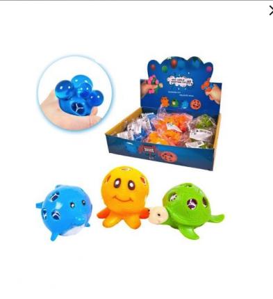 Игрушка-антистресс Junfa Toys Мялка Dinosaur World Морские животные, в ассортименте