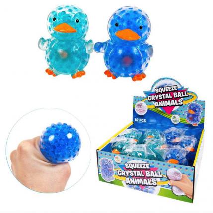Игрушка-антистресс Junfa Toys Мялка Пингвин прозрачный, в ассортименте