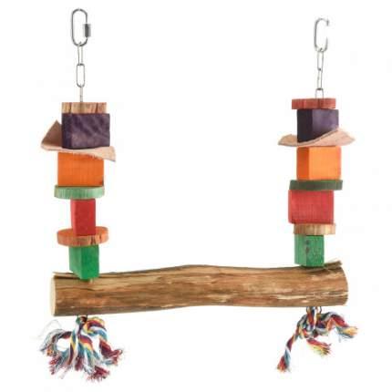 Качели для птиц HAPPY BIRD Хлопковые хвостики, дерево, 25x30см