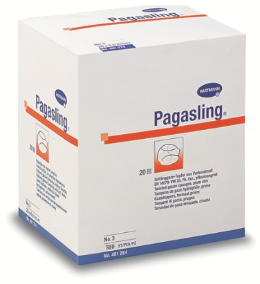 Марлевые тампоны Pagasling нестерильные; № 3, 2 х 500 шт.