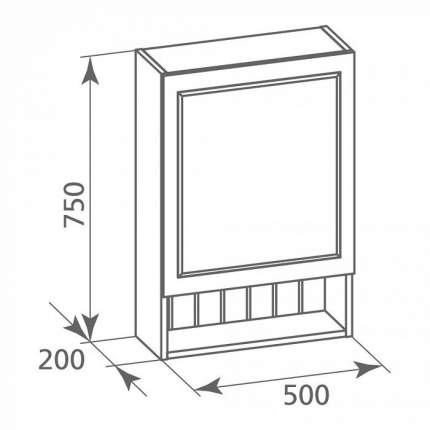 Зеркальный шкаф для ванной Milardo MAG5000M99