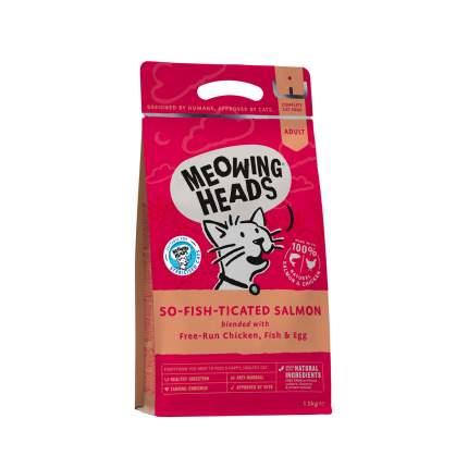 Сухой корм для кошек Barking Heads для взрослых, лосось, курица, рис, 8кг