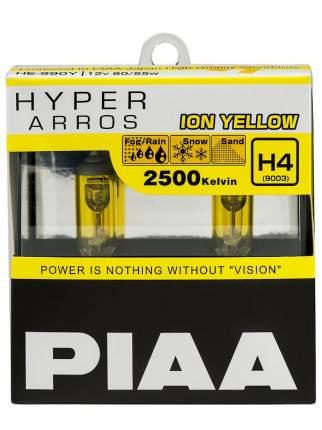 Лампа 12V H4 60/55W P43t-38 2500K бокс (2шт.) Hyper Arros Ion Yellow PIAA HE990YH4