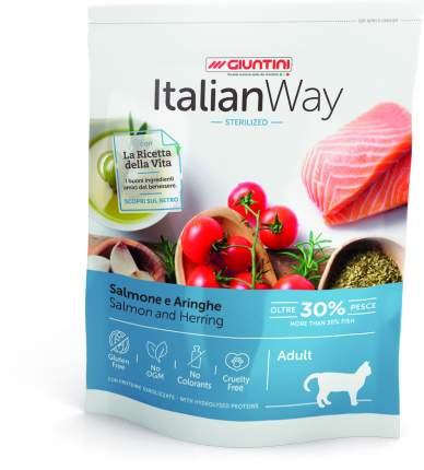 Сухой корм для кошек Italian Way для стерилизованных, лосось, сельдь, 8кг