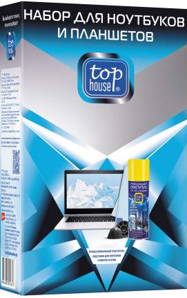 Набор для очистки экранов Top House для ноутбуков и планшетов 3 предмета