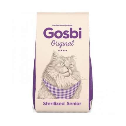 Сухой корм для кошек Gosbi STERILIZED SENIOR, курица, индейка,  1кг