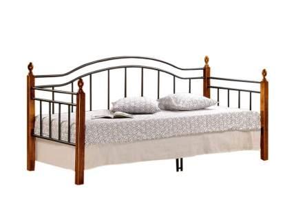 Односпальная кровать LANDLER Гевея/Металл