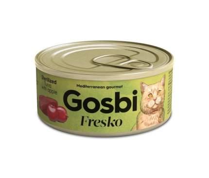 Консервы для кошек Gosbi Fresko Sterilised, беззерновые, с тунцом и яблоком, 70г