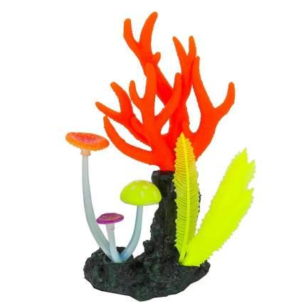 Морские кораллы для аквариума Gloxy, флуорисцентная, розовые, 14х6,5х21 см